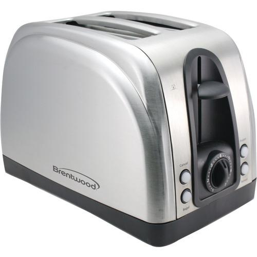 Brentwood 2-slice Elegant Toaster With Brushed Stainless Steel Finish (pack of 1 Ea)