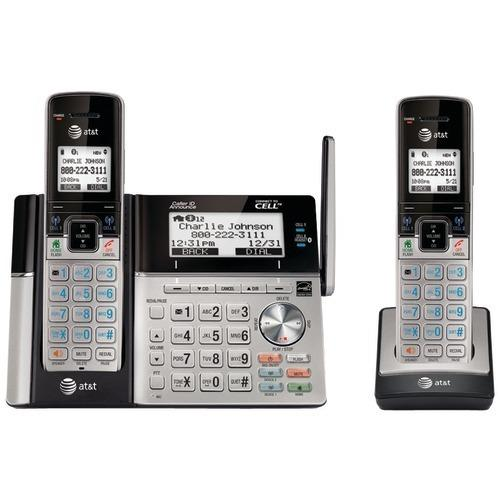 Att Dect 6.0 Connect-to-cell 2-handset Phone System With Dual Caller Id (pack of 1 Ea)