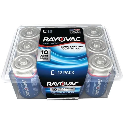 Rayovac Alkaline Batteries Reclosable Pro Pack (c, 12 Pk) (pack of 1 Ea)