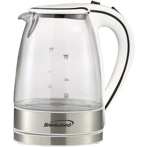 Brentwood 1.7-liter Glass Electric Kettle (pack of 1 Ea)