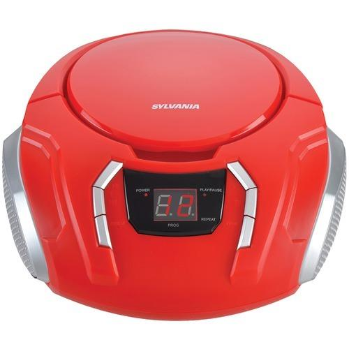 Sylvania Portable Cd Players With Am And Fm Radio (red) (pack of 1 Ea)