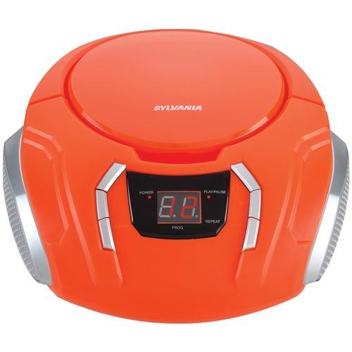 Sylvania Portable Cd Players With Am And Fm Radio (orange) (pack of 1 Ea)