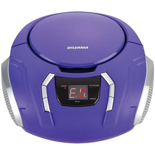 Sylvania Portable Cd Players With Am And Fm Radio (purple) (pack of 1 Ea)