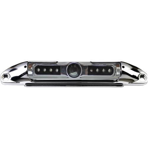 Boyo Bar-type 140deg License Plate Camera With Ir Night Vision & Parking-guide Lines (chrome) (pack of 1 Ea)