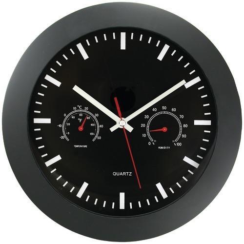 "Timekeeper 12"" Temperature & Humidity Wall Clock (pack of 1 Ea)"