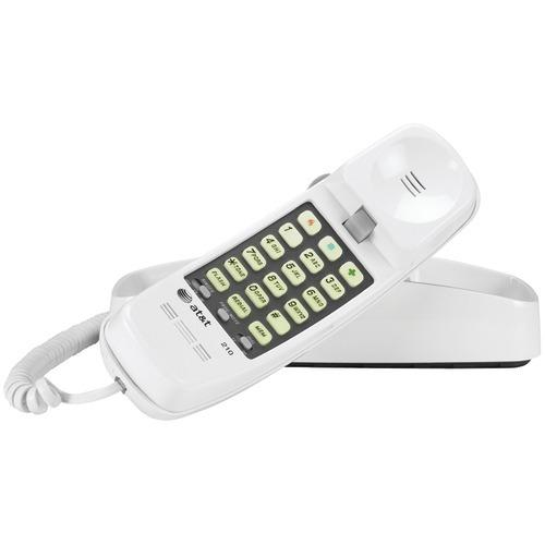 Att Corded Trimline Phone With Lighted Keypad (white) (pack of 1 Ea)