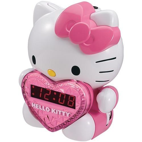 Hello Kitty Am And Fm Projection Alarm Clock Radio (pack of 1 Ea)