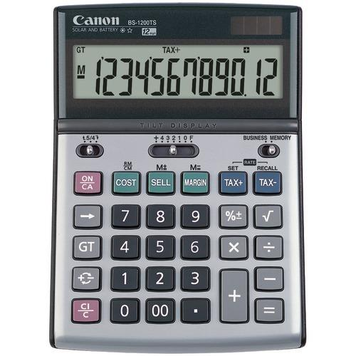 Canon Bs1200ts Solar & Battery-powered 12-digit Calculator (pack of 1 Ea)