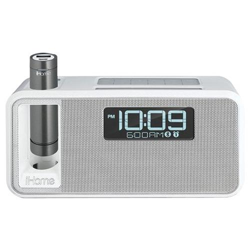 Ihome Dual-charging Bluetooth Stereo Alarm Clock Radio And Speakerphone With Nfc & Removable Power (white) (pack of 1 Ea)