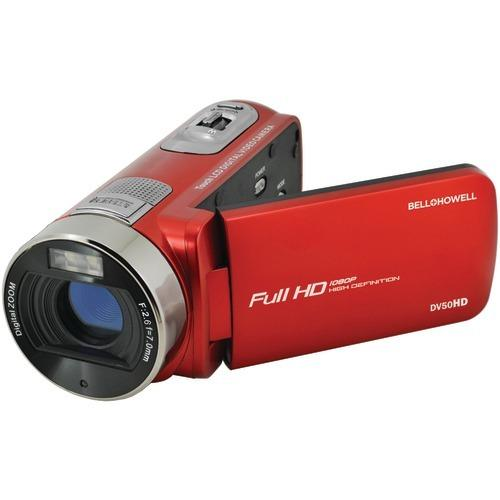 Bell+howell 20.0-megapixel 1080p Dv50hd Fun Flix Camcorder (red) (pack of 1 Ea)