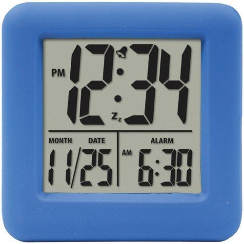 Equity By La Crosse Soft Cube Lcd Alarm Clock (blue) (pack of 1 Ea)