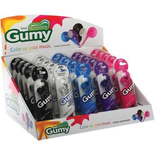Jvc Gumy Earbuds Countertop Display, 25 Ct (pack of 1 Ea)