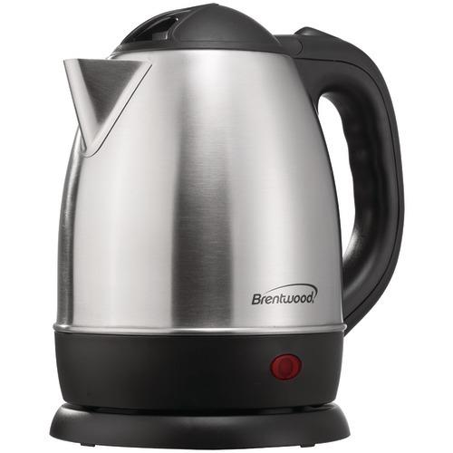 Brentwood 1.2-liter Stainless Steel Electric Cordless Tea Kettle (pack of 1 Ea)