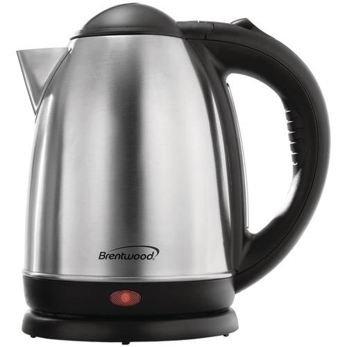 Brentwood 1.7-liter Stainless Steel Electric Cordless Tea Kettle (pack of 1 Ea)