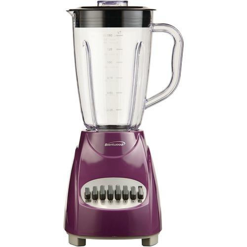 Brentwood 12-speed Blender With Plastic Jar (purple) (pack of 1 Ea)