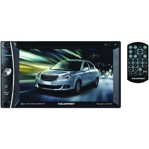 """Blaupunkt Memphis 440 Bt 6.2"""" Double-din In-dash Dvd Receiver With Bluetooth (pack of 1 Ea)"""