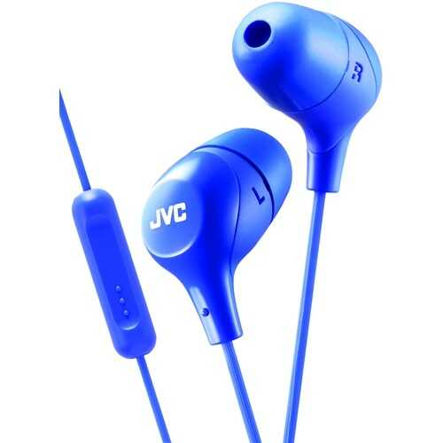 Jvc Marshmallow Inner-ear Headphones With Microphone (blue) (pack of 1 Ea)