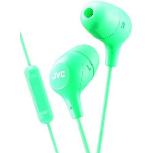 Jvc Marshmallow Inner-ear Headphones With Microphone (green) (pack of 1 Ea)