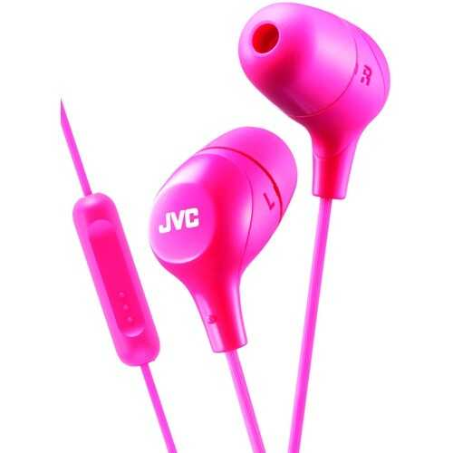 Jvc Marshmallow Inner-ear Headphones With Microphone (pink) (pack of 1 Ea)