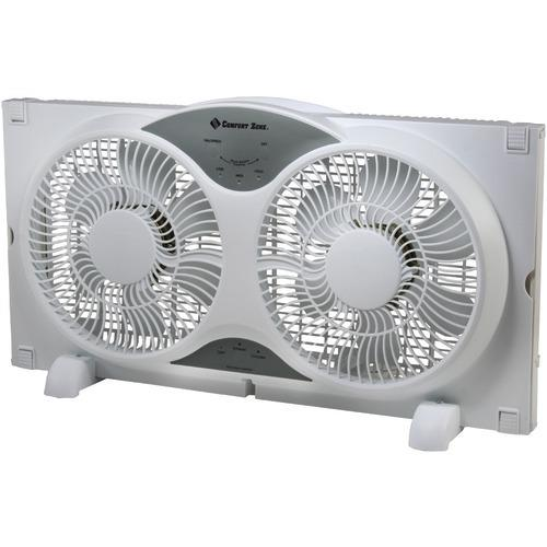 Comfort Zone Reversible Twin Window Fan With Remote (pack of 1 Ea)