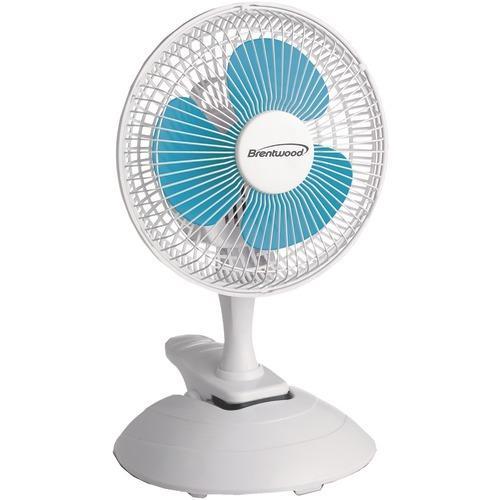 """Brentwood Koolzone 6"""" Convertible Clip Desk Fan (pack of 1 Ea)"""