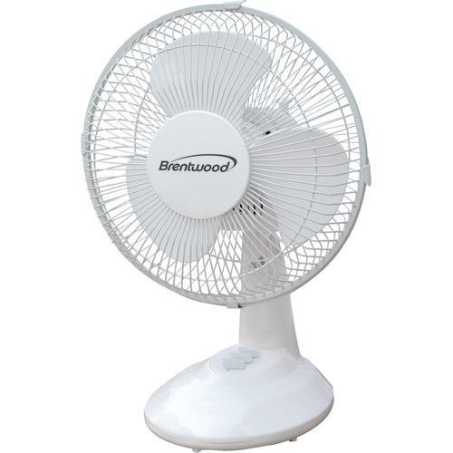 """Brentwood Koolzone 9"""" Oscillating Desk Fan (pack of 1 Ea)"""