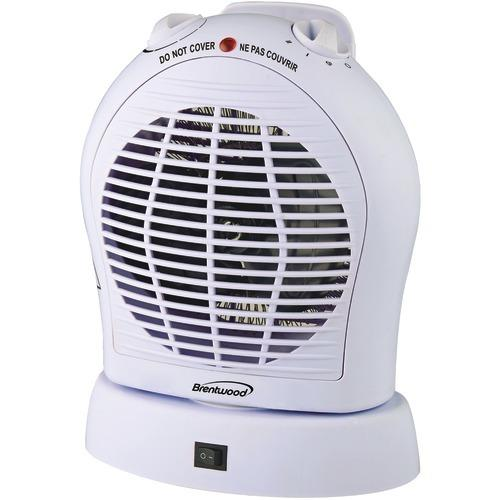 Brentwood Oscillating Fan Heater (pack of 1 Ea)