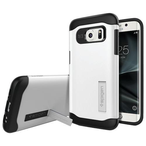 Spigen Slim Armor Case For Samsung Galaxy S 7 Edge (shimmery White) (pack of 1 Ea)