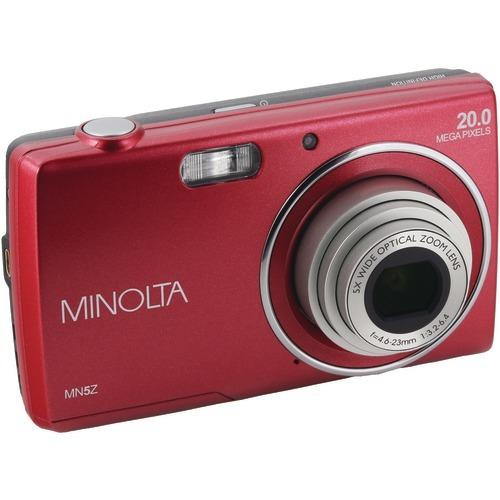 Minolta 20-megapixel Mn5z Hd Digital Camera With 5x Zoom (red) (pack of 1 Ea)
