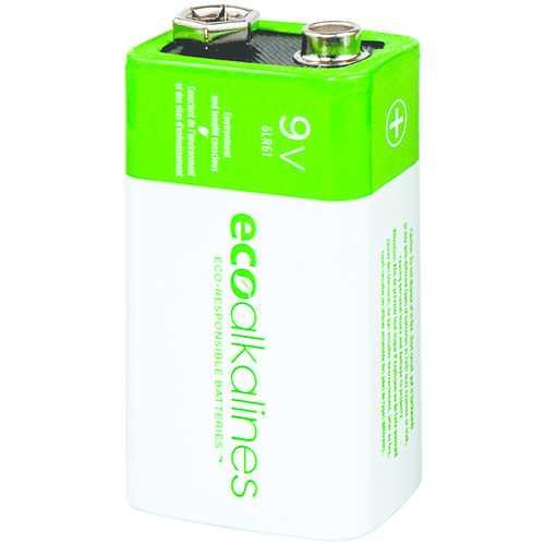 Ecoalkalines 9-volt Ecoalkaline Battery (12 Pk) (pack of 1 Ea)