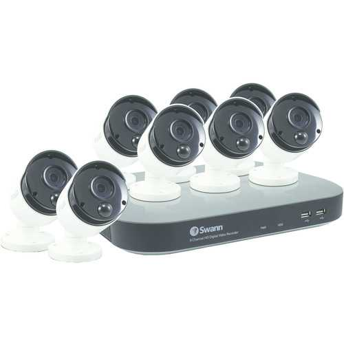 Swann 8-channel 4780 Series 3-megapixel Dvr With 2tb Hard Drive (8 Pir Cameras) (pack of 1 Ea)