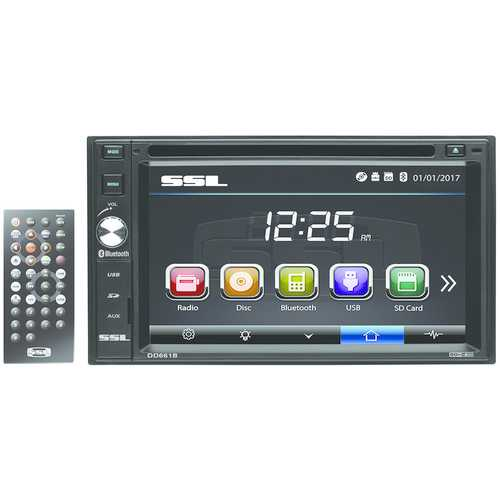 """Sound Storm Laboratories 6.2"""" Double-din In-dash Touchscreen Multimedia Receiver With Bluetooth (pack of 1 Ea)"""