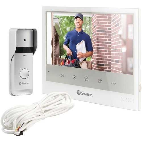 """Swann Wired Doorphone With 7"""" Monitor (pack of 1 Ea)"""