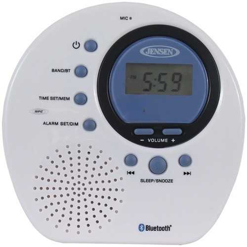 Jensen Water-resistant Digital Am And Fm Bluetooth Shower Clock Radio (pack of 1 Ea)