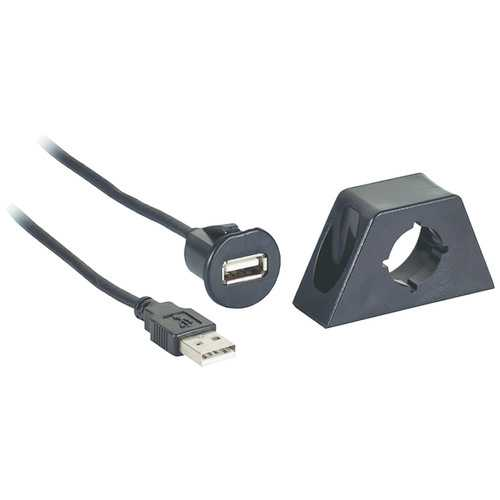 Axxess Male To Female Usb Cable With Mount (pack of 1 Ea)