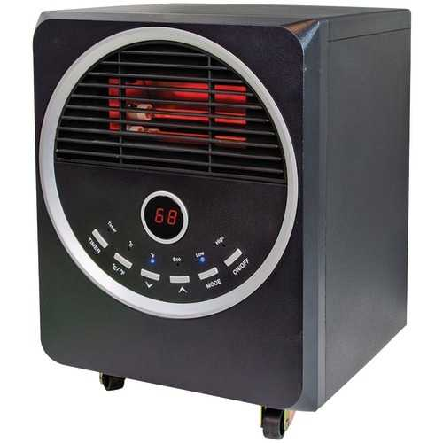 Comfort Zone Quartz Infrared Heater With Remote (pack of 1 Ea)