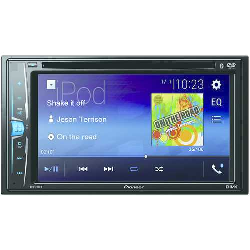 """Pioneer 6.2"""" Double-din In-dash Dvd Receiver With Wvga Clear-resistive Touchscreen & Bluetooth (pack of 1 Ea)"""