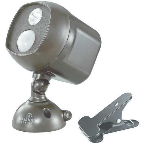 Acclaim Lighting Motion-activated Led Spotlight With Clamp (bronze) (pack of 1 Ea)
