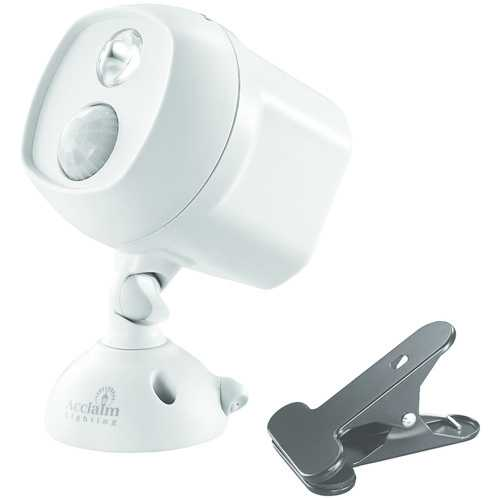 Acclaim Lighting Motion-activated Led Spotlight With Clamp (dove Gray) (pack of 1 Ea)