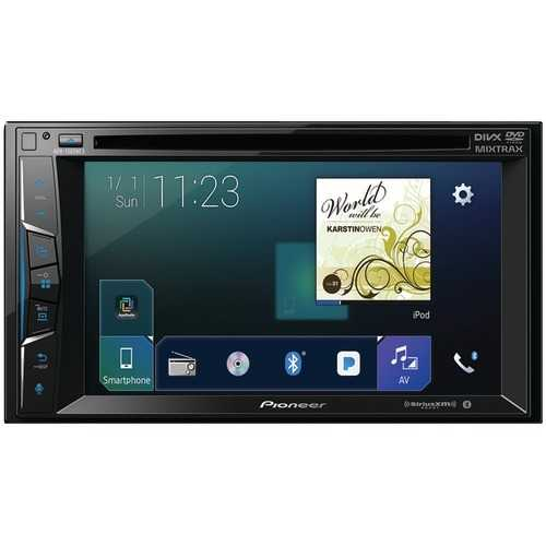 """Pioneer 6.2"""" Double-din In-dash Nex Dvd Receiver With Bluetooth, Apple Carplay, Flac Audio & Siriusxm Ready (pack of 1 Ea)"""