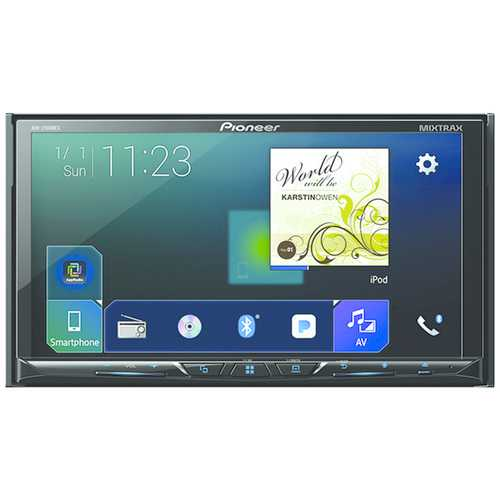 """Pioneer 7"""" Double-din In-dash Nex Dvd Receiver With Bluetooth, Apple Carplay, Android Auto, Flac Audio & Siriusxm Ready (pack of 1 Ea)"""