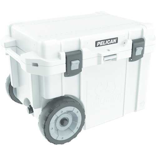 Pelican 45-quart Elite Cooler With Built-in Wheels (white) (pack of 1 Ea)