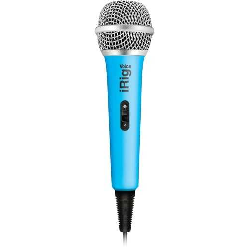 Ik Multimedia Irig Voice Karaoke Microphone (blue) (pack of 1 Ea)