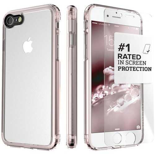 Saharacase Clear Protective Kit For Iphone 8 And 7 Plus (rose Gold Clear) (pack of 1 Ea)