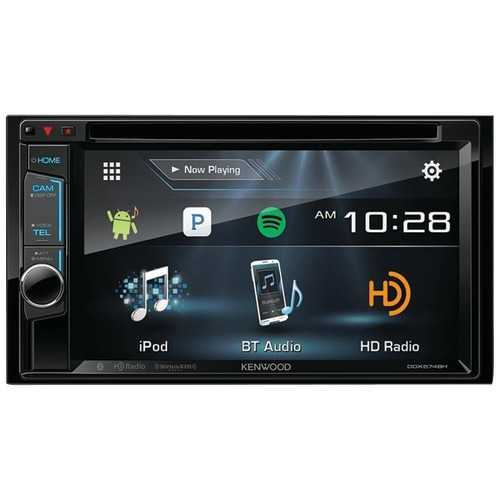 """Kenwood 6.2"""" Double-din In-dash Dvd Receiver With Bluetooth, Hd Radio & Siriusxm Ready (pack of 1 Ea)"""