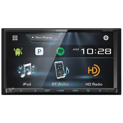 """Kenwood 6.95"""" Double-din In-dash Dvd Receiver With Bluetooth, Hd Radio & Siriusxm Ready (pack of 1 Ea)"""