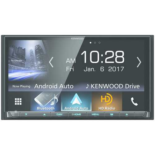 """Kenwood 6.95"""" Double-din In-dash Dvd Receiver With Bluetooth, Apple Carplay, Android Auto, Hd Radio & Siriusxm Ready (pack of 1 Ea)"""