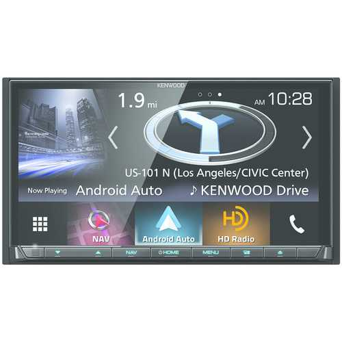 """Kenwood 6.95"""" Double-din In-dash Navigation Dvd Receiver With Bluetooth, Apple Carplay, Android Auto, Hd Radio & Siriusxm Ready (pack of 1 Ea)"""