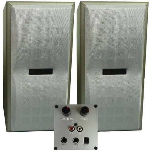 Karaoke Usa Universal Powered Speakers (pack of 1 Ea)