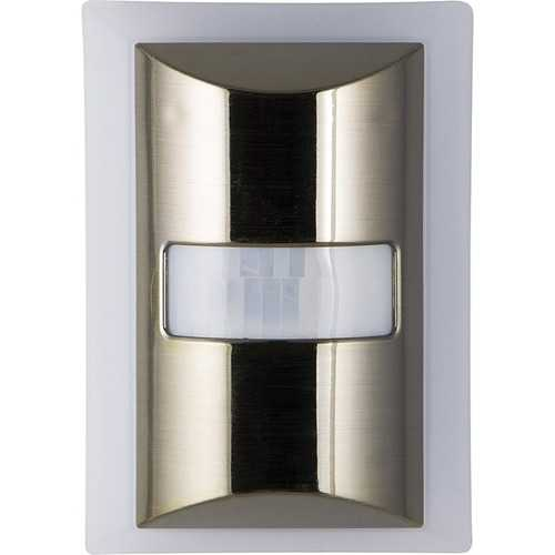 Ge 60-lumen Motion-boost Led Night Light (brushed Nickel) (pack of 1 Ea)
